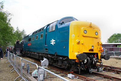 55022 on display in York Railfest  06/06/12