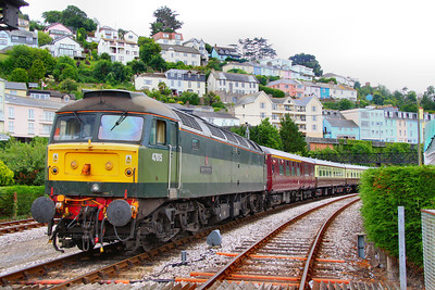 47815 couples to the empty Torbay Express stock in Kingswear, to draw forwards and reverse into the bay platform 05/06/11  Watch the video at: http://www.youtube.com/watch?v=ZLH7mpEknkk