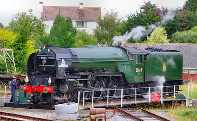 60163 Tornado being turned on Churston Turntable 17/07/11