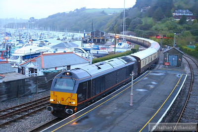 67006 arrives into Kingswear with the VSOE on: 1Z81 17:30 Newton Abbot to Kingswear via Exeter St Davids  26/04/14