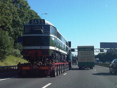 D5627 (31203) heading north on the M42 on a low loader  07/09/12