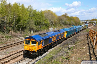 66757 + 50035 + D182 + D213 + D5580 head south through Filton Abbey Wood on: 0Z69 10:27 Kidderminster to St Phillips Marsh 30/04/16  The locos were to be displayed in St Phillips Marsh Open Day on 02/05/16  Watch the video at: https://youtu.be/MduWyICWEX4