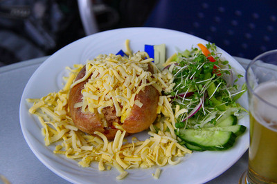 "Jacket Potato with Cheese. Served in ""The Engine House Cafe"" at Highley on the Severn Valley Railway. 08/10/11"