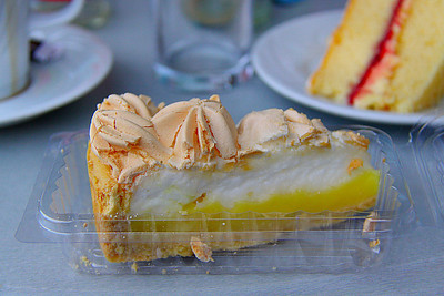 "Lemon Meringue Cheesecake. Served in ""The Engine House Cafe"" at Highley on the Severn Valley Railway. 08/10/11"