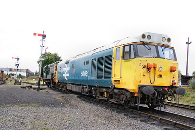 50049 gets towed off the train after failing at Kidderminster 08/10/11