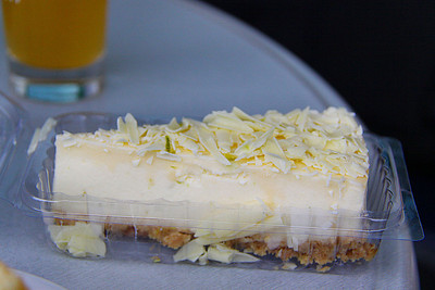 "Lime Zest Cheesecake. Served in ""The Engine House Cafe"" at Highley on the Severn Valley Railway. 08/10/11"