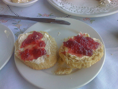Cream Tea Served o nboard South Devon Railway Services for £4.50  28/08/11