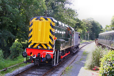 D3721 (09010) giving Brake Van rides at Staverton during the Ale Festival 28/08/11