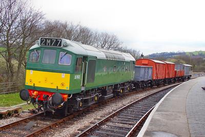 D7612 shunts the freight in Totnes  07/04/12