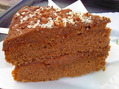 "Chocolate Cake. Served in the ""Rare Breeds Farm Cafe"" in Totnes  07/04/12"