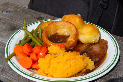 Roast Beef. Served in Buckfastleigh Station Cafe  08/04/12
