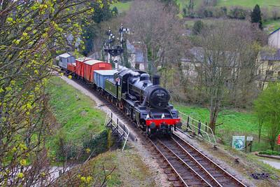 78019 arrives into Totnes on a freight working, the: 13:34 Totnes Littlehempston to Buckfastleigh  07/04/12