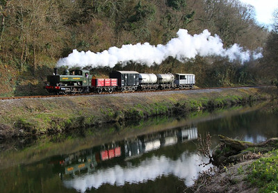 1369 trundles along the River Dart passing Dartington on the: 16:25 Totnes Littlehempston to Bishops Bridge Loop 30/03/13  Watch the video at: http://youtu.be/zRcSGCoustg