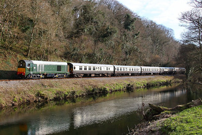 D8110 heads north along the River Dart passing Dartington on the: 15:52 Totnes Littlehempston to Buckfastleigh 30/03/13  Watch the video at: http://youtu.be/zRcSGCoustg