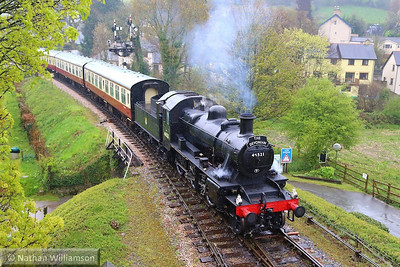 46521 arrives into Buckfastleigh on the: 13:02 Totnes Littlehempston to Buckfastleigh  20/04/14
