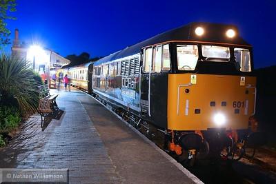 31601 stands in Buckfastleigh at 22:30 having worked: 22:05 Buckfastleigh to Totnes Littlehempston  23/05/15