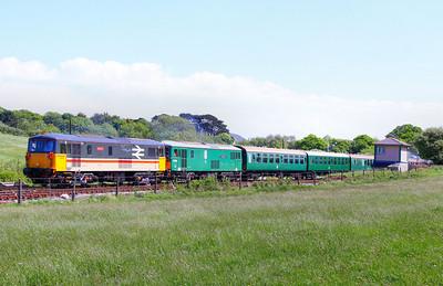73205 & 73136 depart Harmans Cross on the: 1N14 11:45 Harmans Cross to Swanage 08/05/11