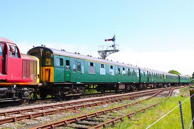 421498 departs Harmans Cross being hauled by 37503. 08/05/11