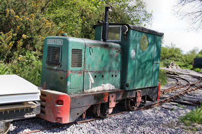 Ruston Shunter on an engineering train on the Norden Mineral Railway