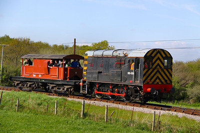 08436 with a Queen Mary Brakevan heads south over Corfe Castle Foot Crossing working the: 3S01 16:12 Norden to Swanage  13/05/12  Watch the video at: http://youtu.be/TClgU8KN47E