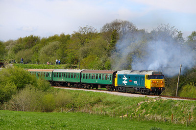 50026 departs Norden working the: 2S15 14:30 Norden to Swanage  13/05/12  Watch the video at: http://youtu.be/TClgU8KN47E