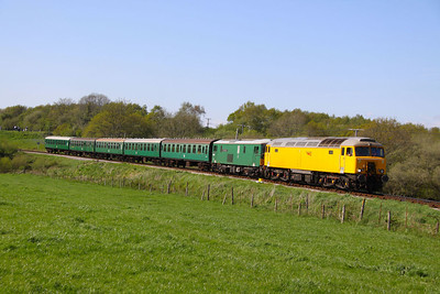 57312 & 73136 pass Corfe Castle Foot Crossing working the: 2S19 16:00 Norden to Swanage  13/05/12  Watch the video at: http://youtu.be/TClgU8KN47E