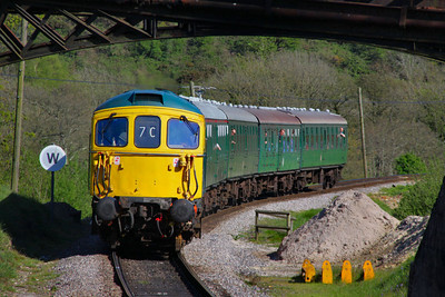 33111 arrives into Norden working the: 1S10 16:28 Swanage to Norden  13/05/12