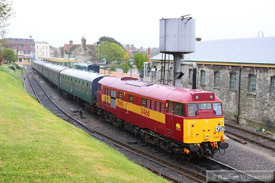 31466 stands in Swanage ready to work the: 18:15 Swanage to Norden  12/05/13