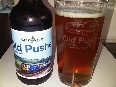 Old Pusher Ale & Glass from the beer festival