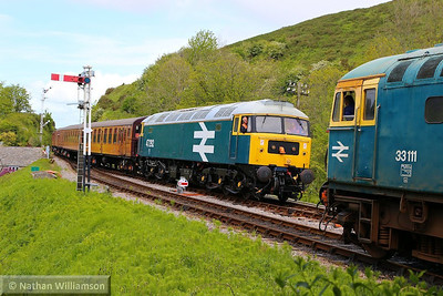 47292 arrives into Corfe Castle on the: 1S05 12:35 Norden to Swanage  11/05/14