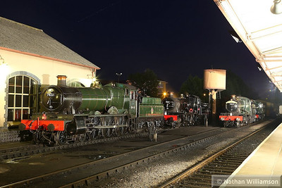 7822 Foxcote Manor / 7827 Lydham Manor / 7812 Erlestoke Manor in Minehead during an evening photo shoot organised by Don Bishop.  05/10/13
