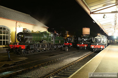 7822 Foxcote Manor / 7827 Lydham Manor / 7828 Odney Manor / 7812 Erlestoke Manor in Minehead during an evening photo shoot organised by Don Bishop.  05/10/13
