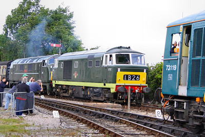 D7017 & D832 arrive into Williton on the: 11:45 Minehead to Bishops Lydeard  17/06/12