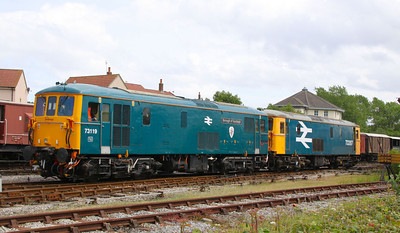 73119 & 73207 reverse onto the train in Minehead  17/06/12