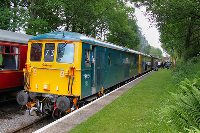 73119 & 73207 arrive into Crowcombe Heathfield on the: 11:55 Bishops Lydeard to Minehead  17/06/12