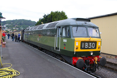 D1661 (47840) stands in Minehead ready to work the: 17:45 Minehead to Bishops Lydeard  17/06/12