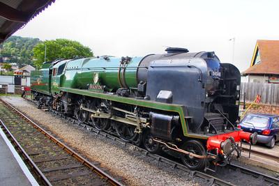 "34046 ""Braunton"" stables in Minehead 16/07/11"