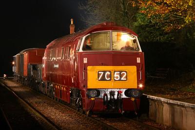 "D1035 ""Western Yeoman"" inCrowcombe Heathfield 12/11/11"