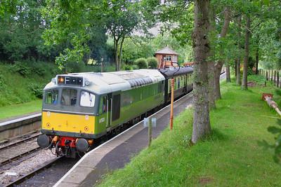D7523 calls at Crowcombe Heathfield 16/07/11