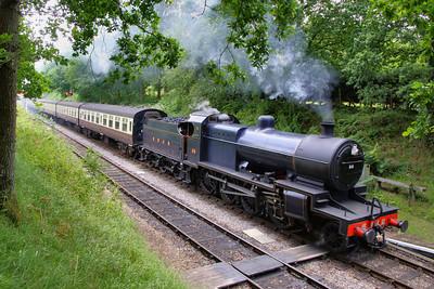 88 arrives into Crowcombe Heathfield 16/07/11
