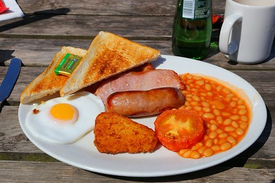"""Breakfast, served in the """"Driftwood Cafe"""" in Blue Anchor  07/06/15"""