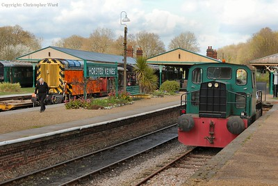 The Bluebell's entire resident diesel fleet line-up at Horsted