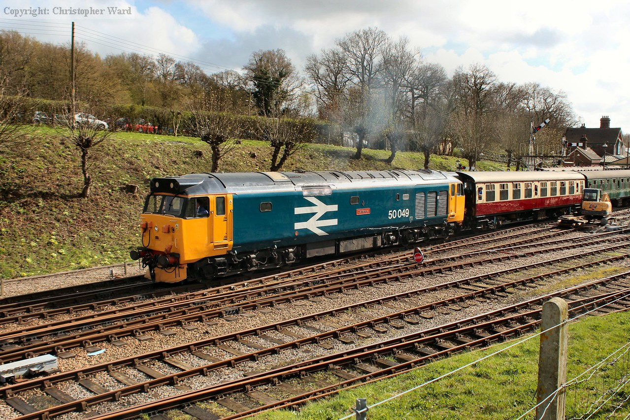 The class 50 shining in the afternoon sunshine