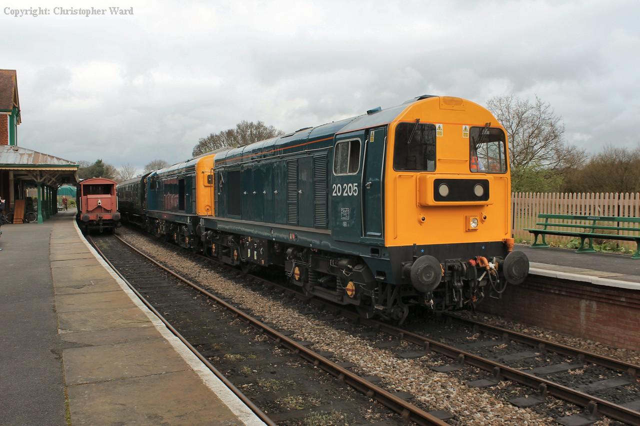 The BR blue class 20s, used to bring 50049 to the line from Kidderminster