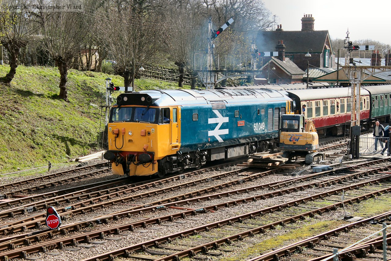50049 gets away from the Horsted stop