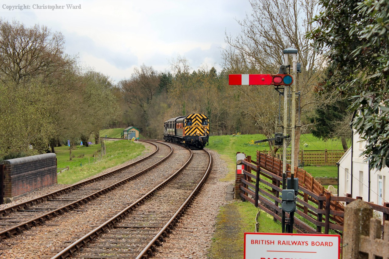 The shunter arrives with a terminating working from Sheffield Park