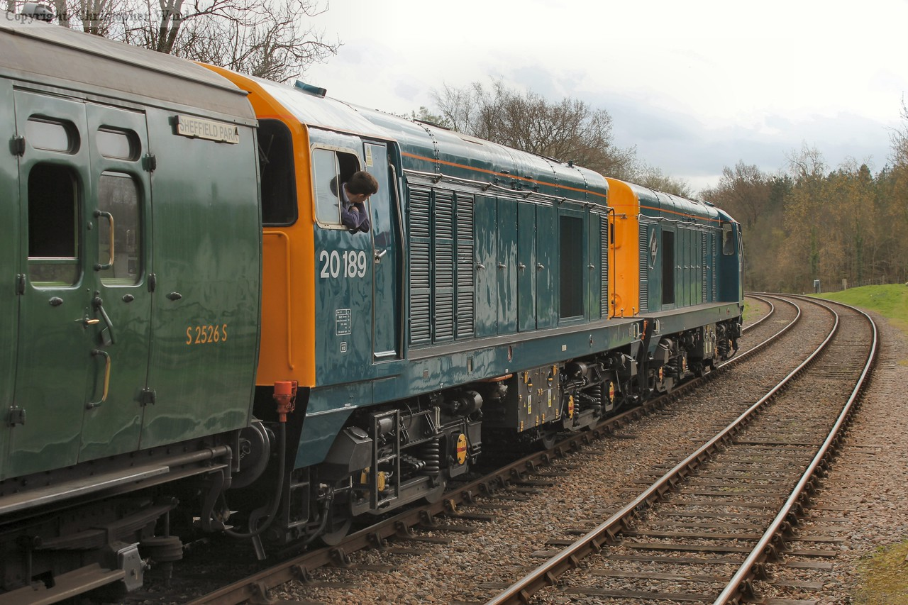 The 20s get their train back underway on the run south