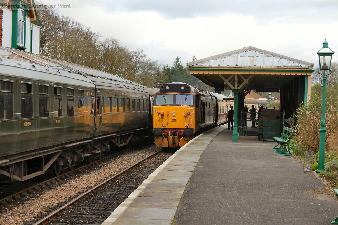 50049 rolls in with a down train