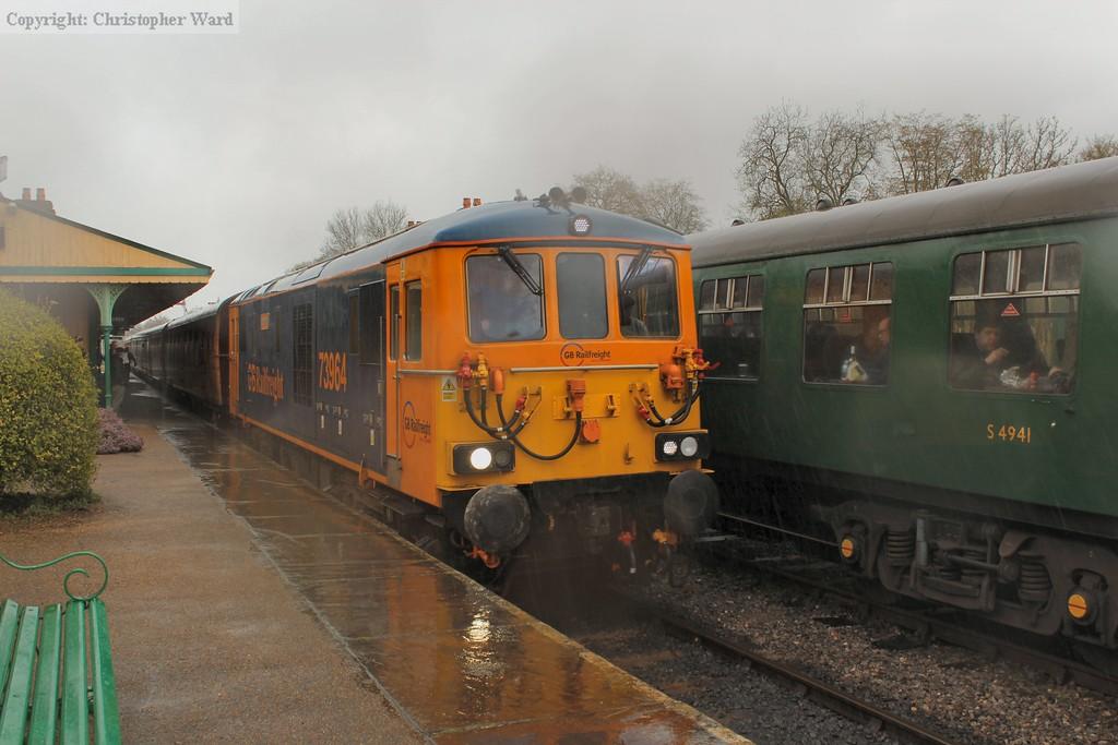 The 73 and TC combo heads north in teeming rain