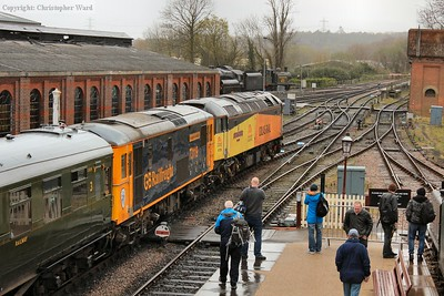 73119 and 47739 prepare to run round the stops